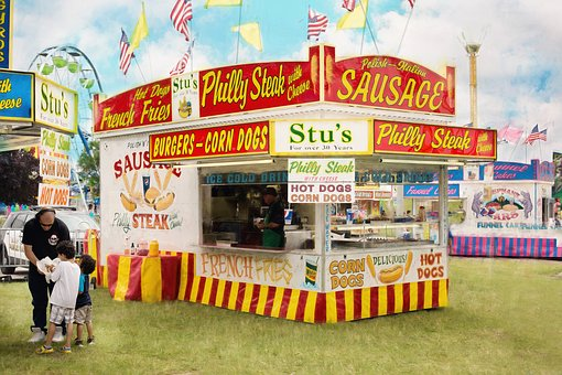 Carnival, Summer, Concession Stand, Food, Fair