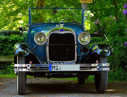 Ford, Oldtimer, Year Built 1929, Automotive, Vehicle