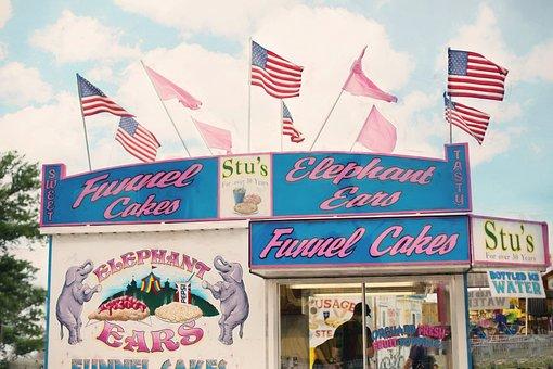 Carnival, Funnel Cake Stand, Amusement, Concession