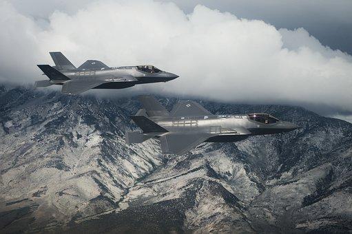 F-35a, Lightning Ii, Us Air Force, Gray Lightning