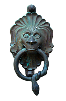 Doorknocker, Bronze, Metal, Lion, House Entrance