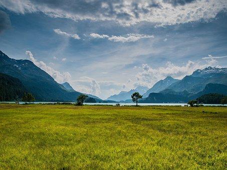 Switzerland, Mountains, Graubünden, Alpine, Bergsee