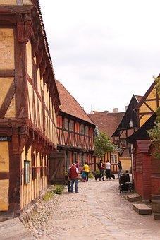 Houses, Half-timbered, Open-air, Museum, Aarhus