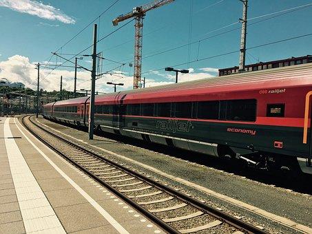 Trains, Railjet, Austria, Salzburg, Railway