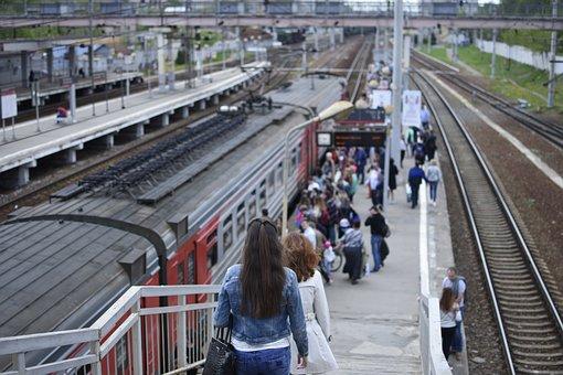 Elektrichka, Balashikha, Railway, Moscow Region, Russia