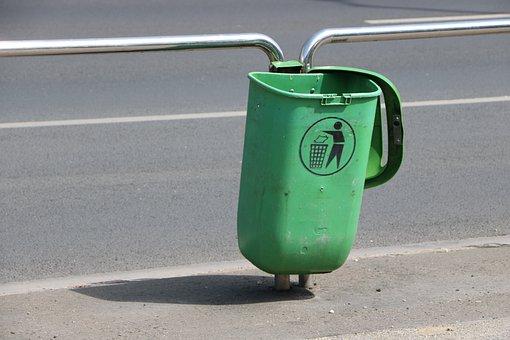 Dumpster, Limit, Road, Green