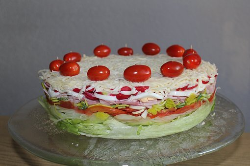 Salad Cake, Cake, Salad, Snack, Party, Healthy, Eat