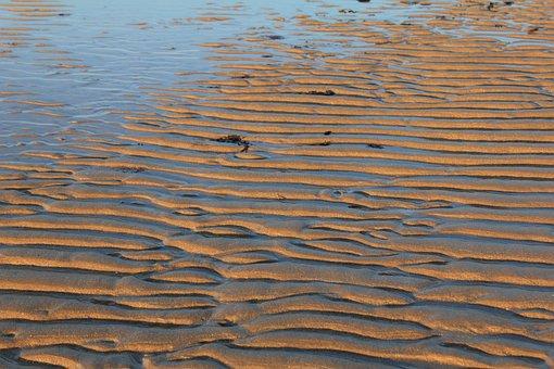 Sand, Ripples, Lines, Ridge, Background, Wave Pattern