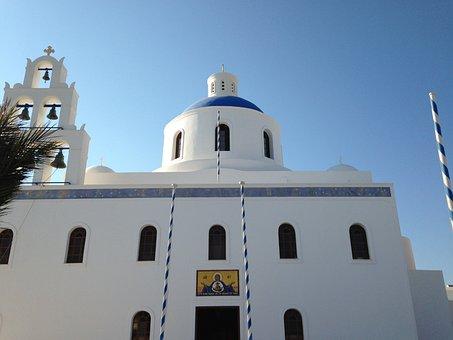 Santorini, Church, Greece