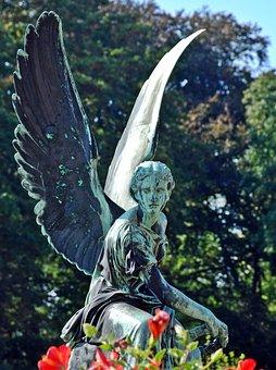 Angel, Schwerin, Sculpture, Sanssouci, Bronze