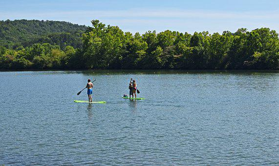 Paddle Boarding, Summer Fun, Family, Sport, Recreation