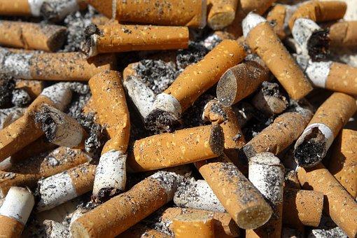 Cigarette End, Cigarette, Smoking, Stub, Ash, Ashtray