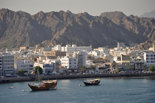 Muscat, Oman, Harbor, Travel, Boat, Port, Traditional