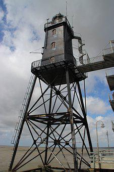 Lighthouse, Upper Shipping, Dorum, North Sea
