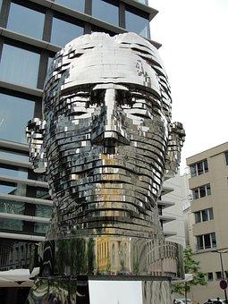 Prague, Kafka, Statue, černý