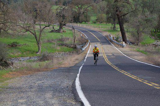 Bicycle, Country Roads, Calaveras County, Road, Country