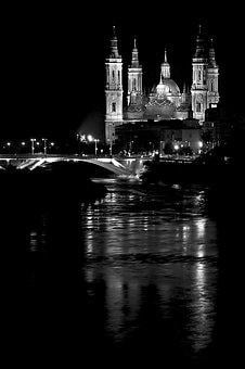 Night, Church, Cathedral, Architecture, Buildings, Sky