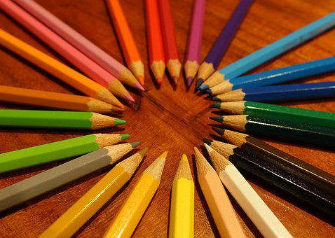 Colorful, Colored Pencils, Pens, Pointed, Draw