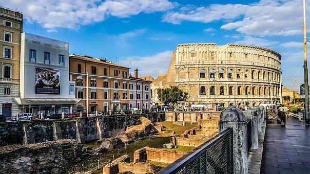 Rome, Colosseum, Gladiator, School, View, Famous