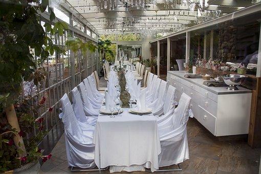 Festive Table, White, Wedding, Celebration, Dining Room