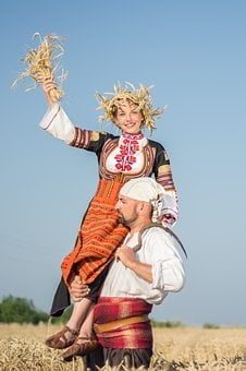 Girl, Bulgarian, Folk Dance, Folklore, Clothing, Blond