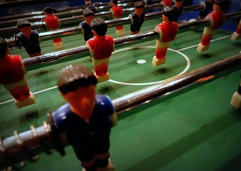 Table Football, Kicker, Foosball Table, Football