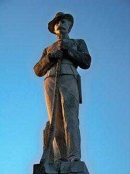Graveyard, Confederate, Civil, War, History, Military