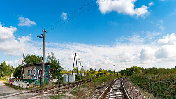 Level Crossing, Gleise, Railway, Chortkiv, Ternopil