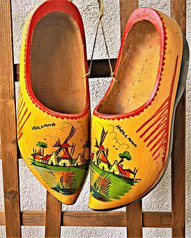 Shoes, Dutch Clogs, Wooden Slipper, Real Clogs