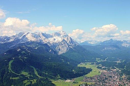 Zugspitze, Garmisch Partenkirchen, Alpine, Clouds, Rock