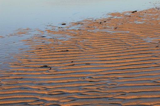 Sand, Ripples, Lines, Ridge, Wave Pattern, Beach, Shore