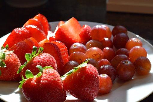Grape, Grapes, Strawberry, Strawberries, Fruit, Food