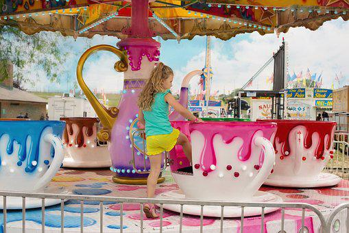 Carnival, Summer, Tea Cup Ride, Holiday, Festival