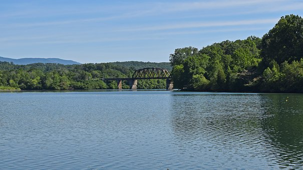 Railroad Bridge, Melton Lake, Clinch River, Tennessee