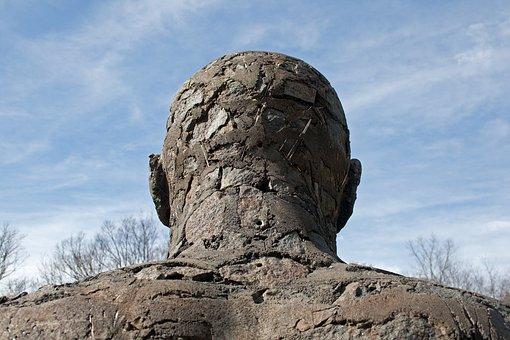 Sculpture, Figure, Statue, Male, Art, Rough, Head