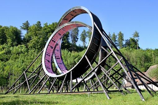Loop, Art, Metal, Sculpture, Artwork, Modern Art