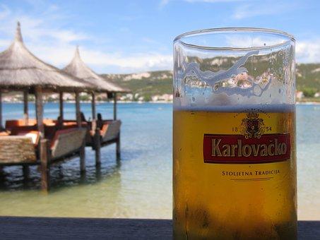 Croatia, Beach, Beer, Holiday, Away, Sea, Water