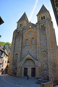 Conques, Aveyron, Abbey, Church, Pilgrimage, Bell Tower