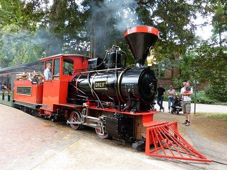 Steam Locomotive, Engine, Castle Park Karlsruhe