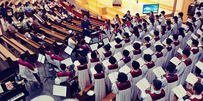 Church, Choir, Praise Up, Praise, Conducting, Worship