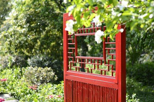 Door, Flower, Tree, Red, Plant