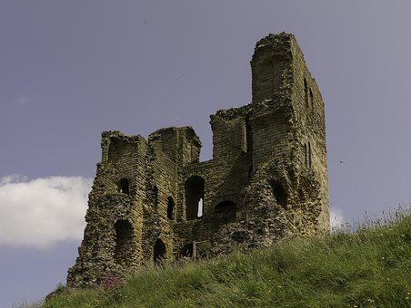 Ruin, Castle, Burgruine, England, Scarborough
