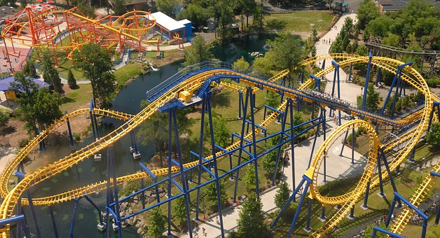 Roller Coaster, High, Amusement Park, Amusement