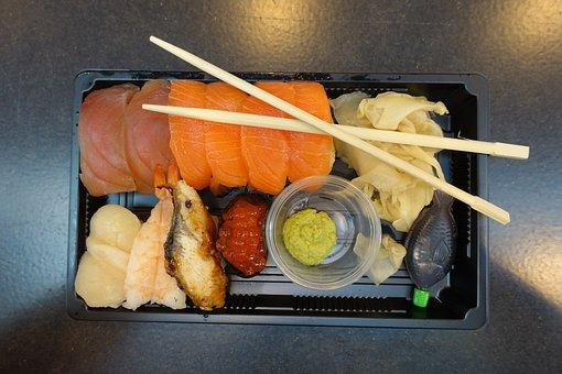 Sushi, Take Away, Fish, Japanese Food, Street Food