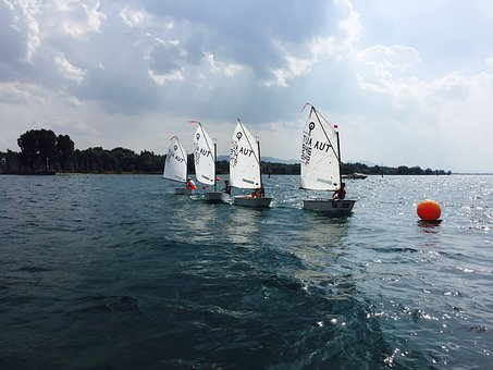 Opti, Regatta, Lake Constance, Sail, Sailing Boat, Boot