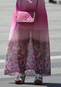 Woman, Pink, Handbag, Ms, Beauty