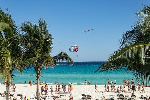 Mexico, Cancun, Sun, Party, Summer, Holiday, Beach, Sky