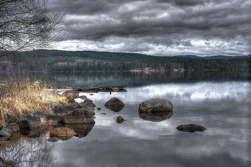Falun, Sundborn, Lake, Landscape, Nature, Water