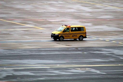 Vehicle, Runway, Airport, Landing