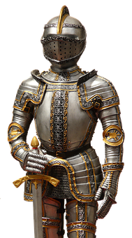 Knight, Armor, Middle Ages, Armor Knight, Helm, Weapons